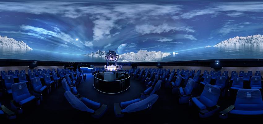 The auditorium of the Planetarium Wolfsburg